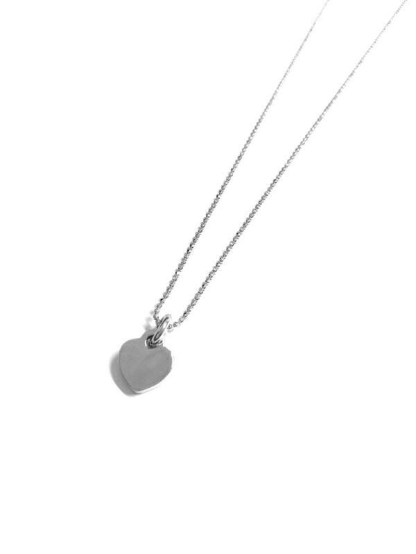 Collar plata de ley corazón