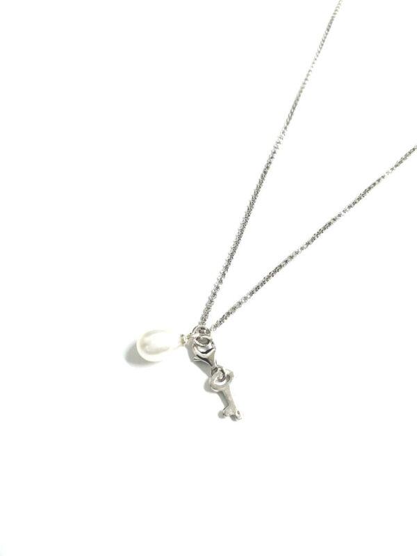 Gargantilla plata llave perla