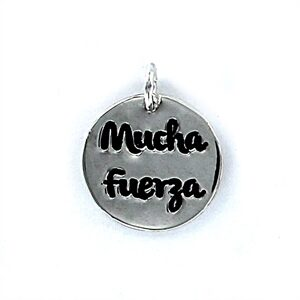 Colgante plata My life mucha fuerza-0