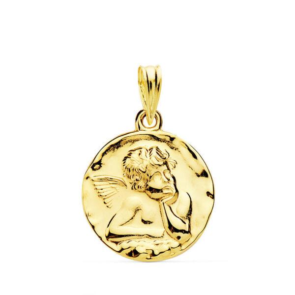 Medalla oro 18k angelito