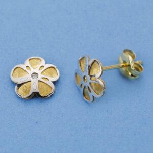Pendientes flor bicolor
