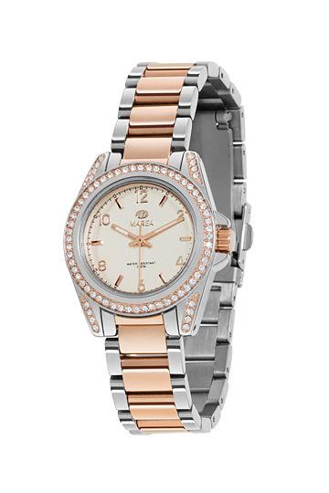 Reloj Marea mujer acero y chapado en oro rosa