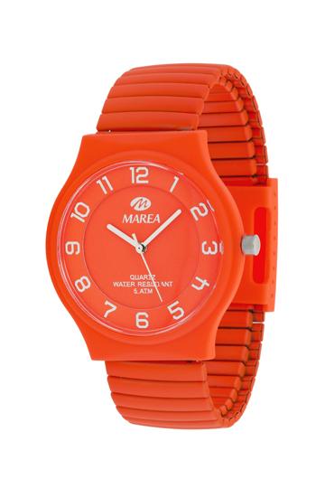 Reloj Marea elástico naranja