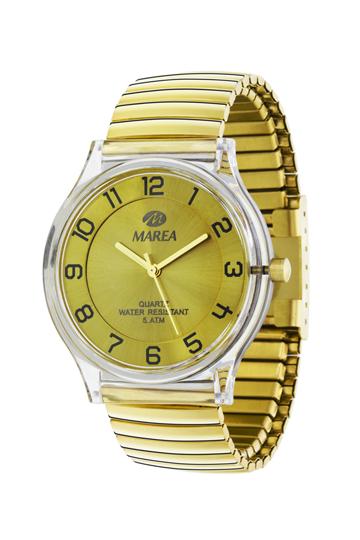 Reloj Marea elástico dorado
