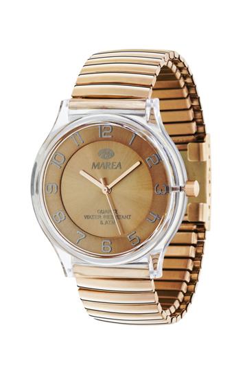 Reloj Marea elástico chapado oro rosa