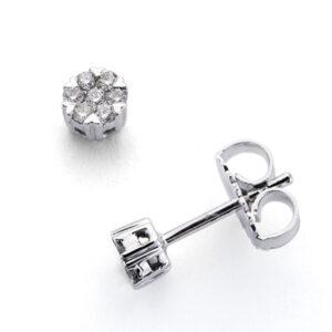 Pendientes oro blanco diamantes