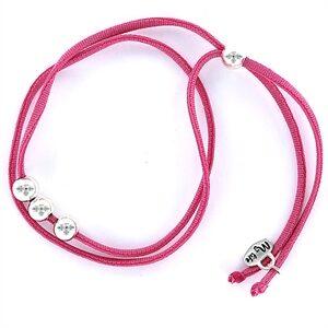 Pulsera elástica seda rosa