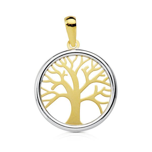 Colgante oro árbol de la vida