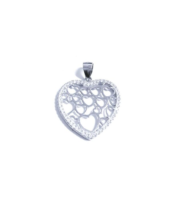 Colgante de plata corazón calado