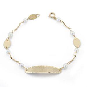 Esclava oro bebé perlitas-0