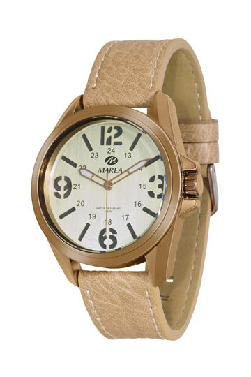 Reloj Marea de caballero correa de piel marrón claro