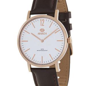 Reloj Marea clásico caja acero redonda correa de piel