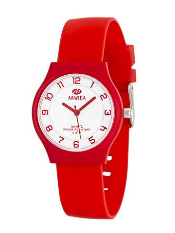 Reloj Marea nineteen plano rojo esfera blanca