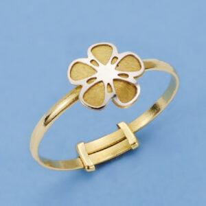 Sortija flor oro