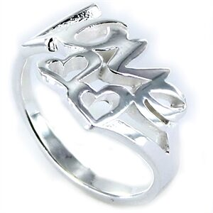 Anillo de plata love con dos corazones-0
