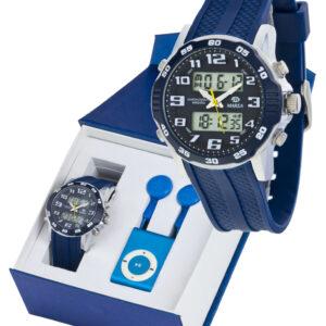 Reloj Marea analógico/digital caucho azul