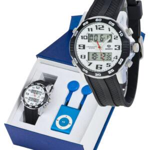Reloj Marea analógico/digital caucho negro