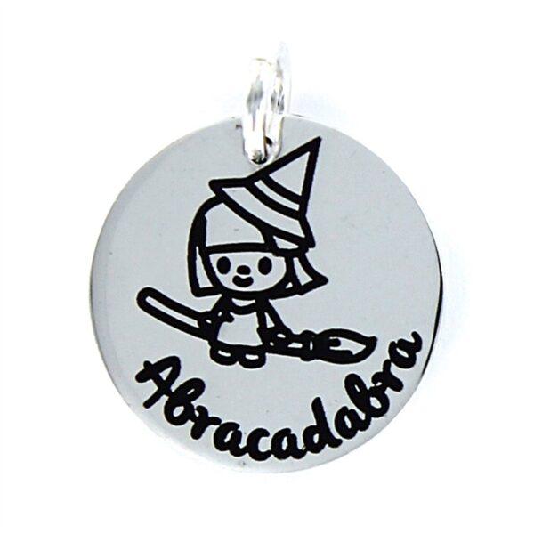 Colgante de plata bruja abracadabra