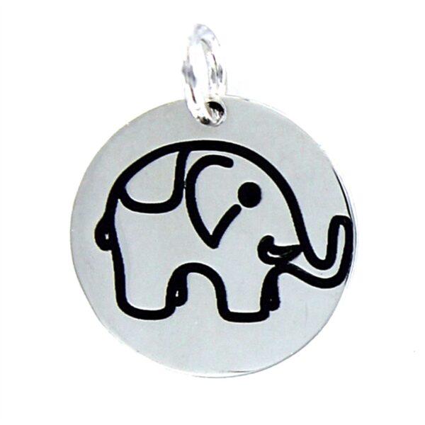 colgante de plata elefante de la suerte