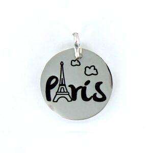 Colgante plata París My life