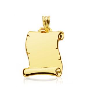Pergamino de oro mediano