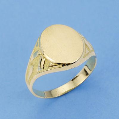 Sello de oro caballero ovalado