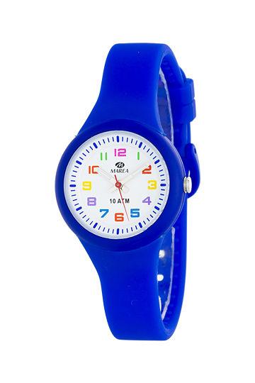 Reloj Marea infantil caucho azul eléctrico