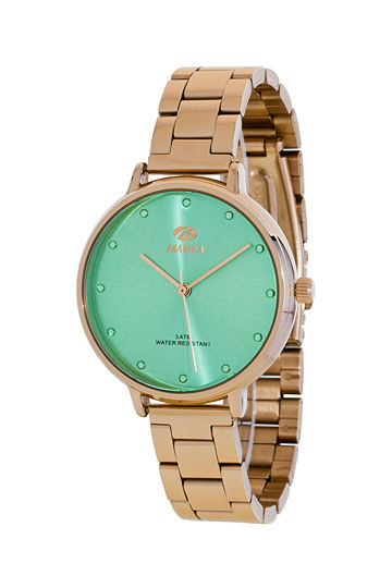 Reloj Marea mujer chapado en oro rosa esfera verde mar