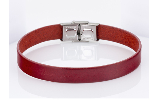 Pulsera Marea Jewel piel roja