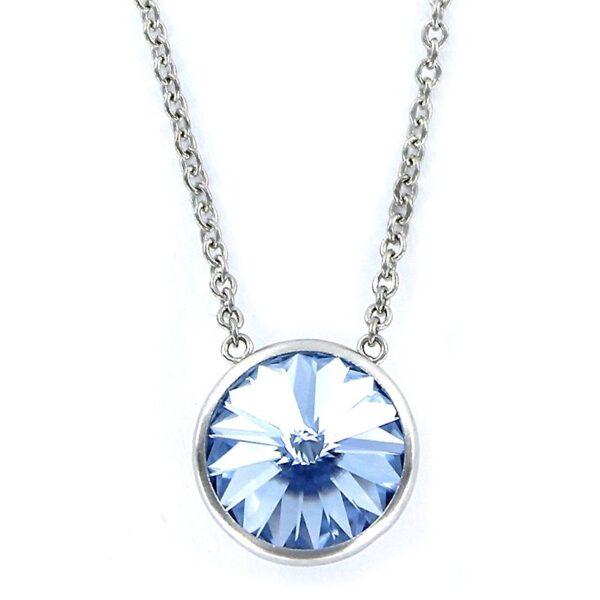 Gargantilla o collar círculo Swarovski azul