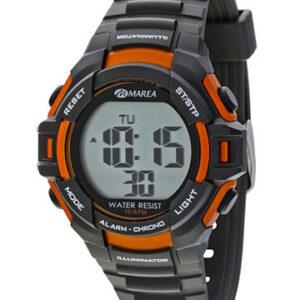 Reloj Marea digital caucho negro-naranja