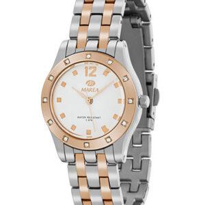 Reloj Marea de mujer bicolor circonitas