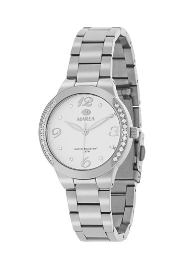 Reloj Marea de mujer acero circonitas