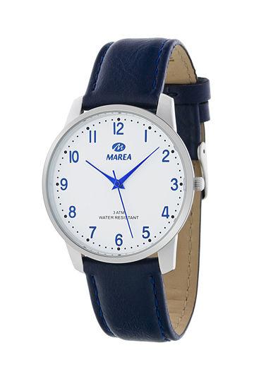 Reloj Marea unisex correa piel azul marino