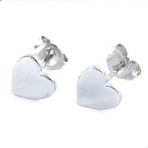 Pendiente corazón plata
