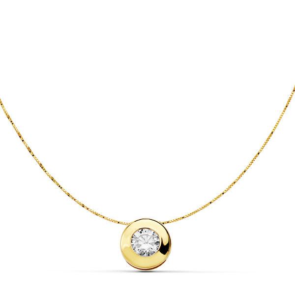 Collar oro chatón oro amarillo 8,5 mm