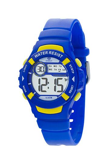 Reloj Marea digital caucho azulón