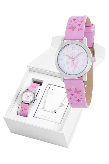 Reloj Marea infantil mariposas con pulsera