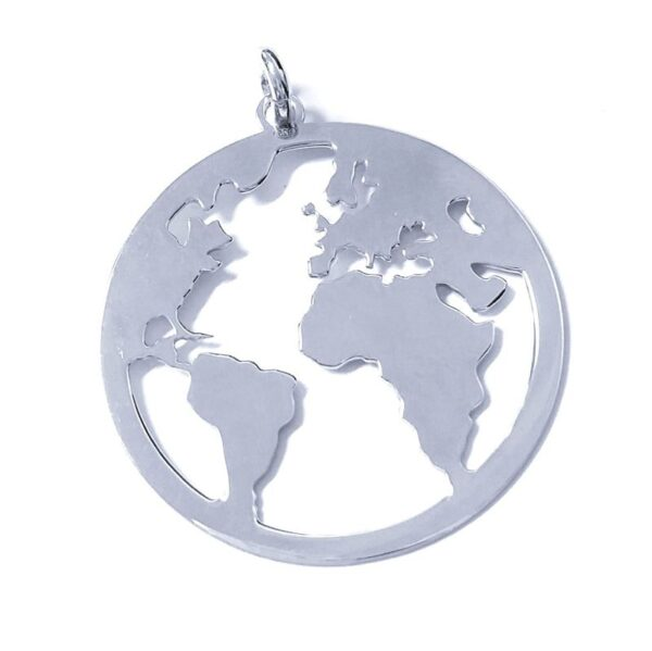 Colgante plata ley bola del mundo