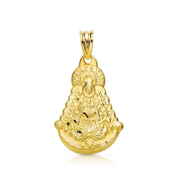 Medalla oro de 18 k Virgen del Rocío silueta
