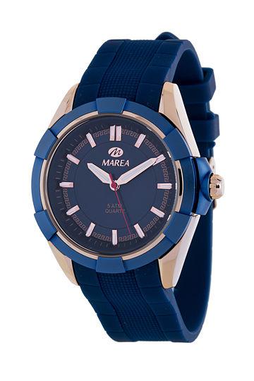 Reloj Marea caballero caucho azul