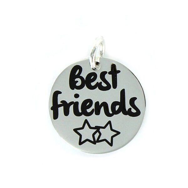 "Colgante plata My life ""best friends"""