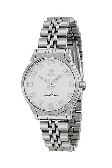 Reloj Marea de mujer metálico números blanco