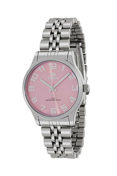 Reloj Marea de mujer metálico números rosa