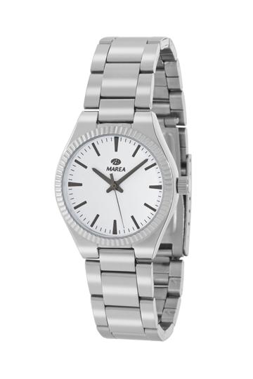 Reloj Marea metálico mujer esfera blanca