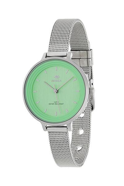 Reloj Marea de mujer correa malla esfera verde
