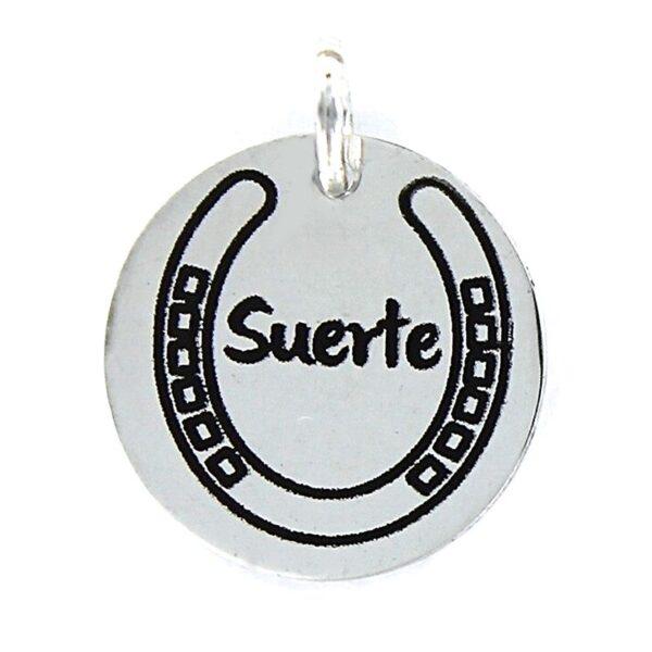 """Colgante plata My life """"herradura de la suerte"""""""