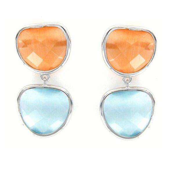 pendientes-plata-cristales-irregulares-anaranjado-azul-grisaceo