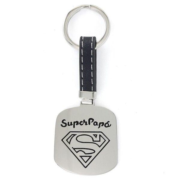 Llavero acero SuperPapá