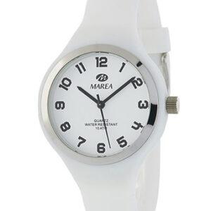 Reloj Marea caucho suave blanco